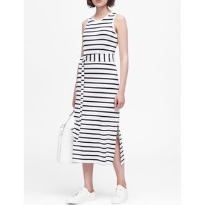 NEW Stripe Ponte Tank Dress